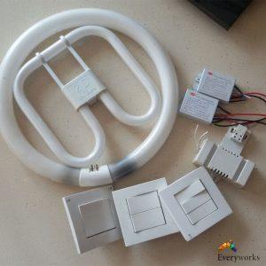 change-light-switch-and-fluorescent-light-tube