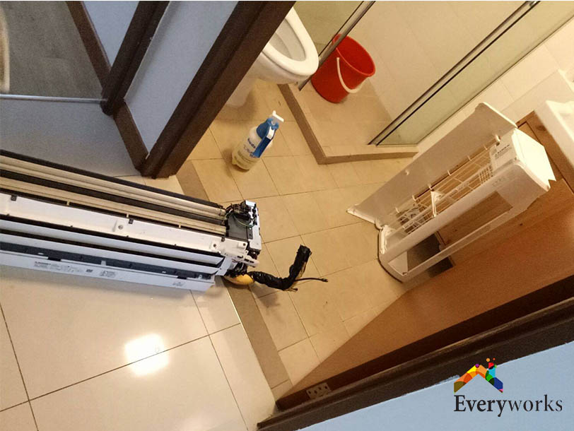Aircon Chemical Overhaul and Aircon Servicing- HDB, Tampines