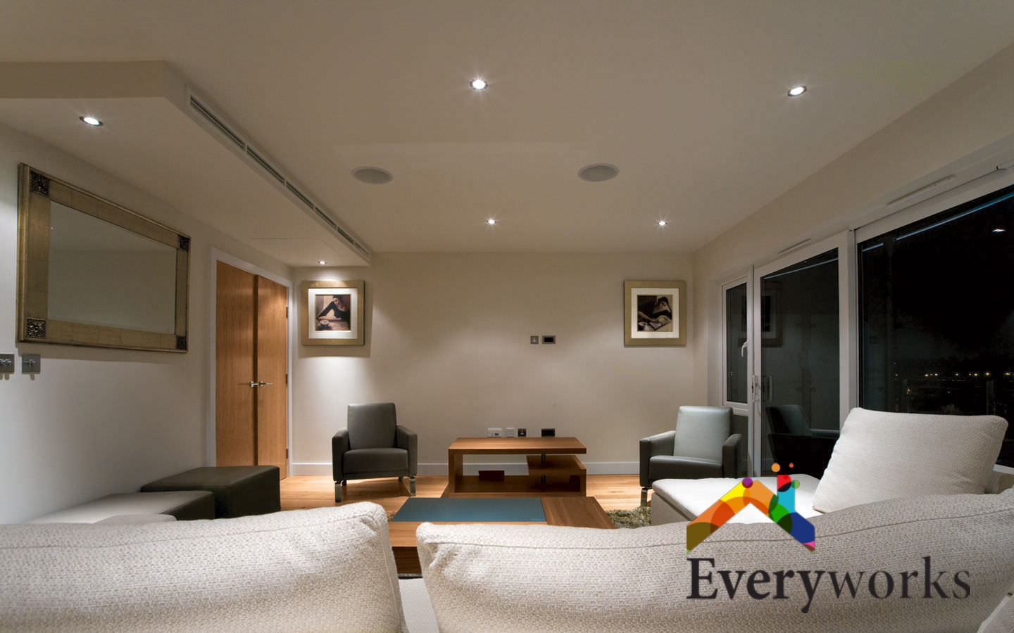 living-room-downlight-lighting-installation-everyworks-electrician-singapore