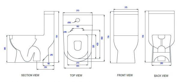 Saniton Melissa ST2452 1-Piece Toilet Bowl