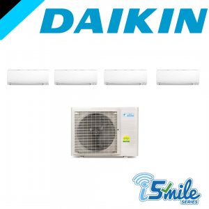 Daikin iSmile Series (Inverter) - SYSTEM 4 AIRCON (MKS80TVMG / CTKS25TVMG X3 / CTKS50TVMG)