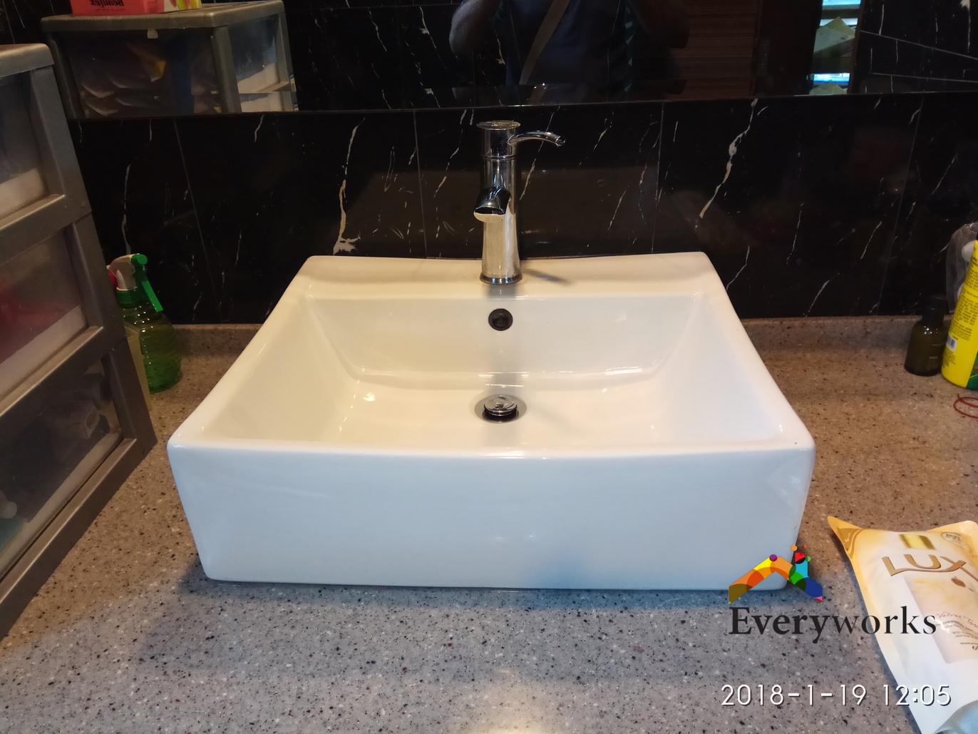 Fix Leaking Pipe below Bathroom Wash Basin Plumber ...
