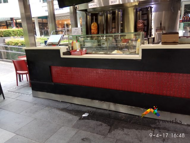 Repair Burst Pipe, Pipe leak Repair Plumber Singapore – Commercial Food Kiosk, Orchard Road
