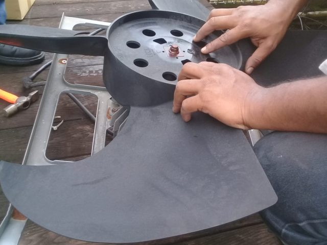 Aircon Repair Replacement of condenser (outdoor unit) Fan Motor – Commercial Building Woodlands