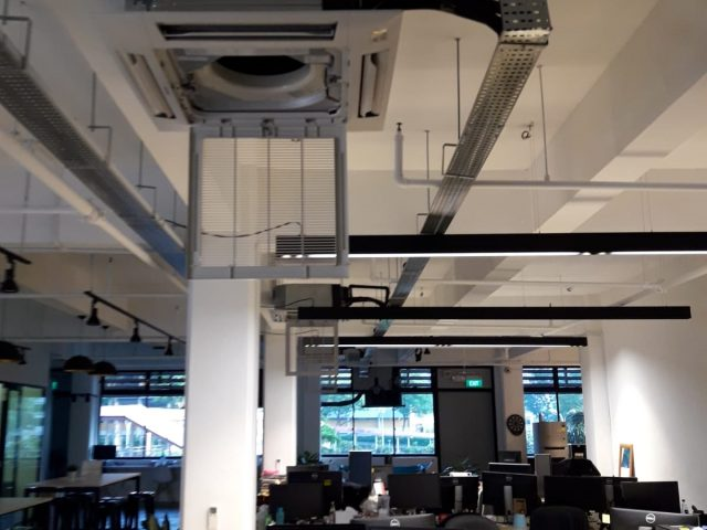 Aircon Servicing Ceiling Cassette Fan Coil Singapore – Commercial Toa Payoh