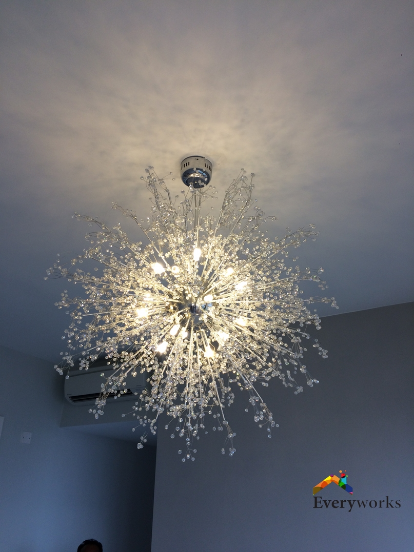 Decorative Ceiling Light Installation Electrician Singapore – Condo Serangoon