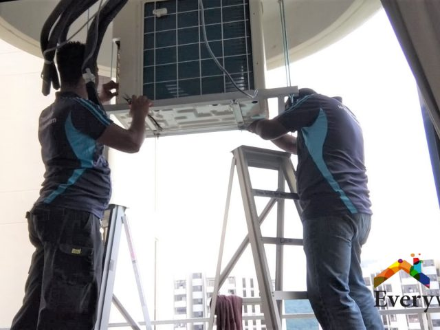 Condenser Aircon Installation Aircon Servicing Singapore – Condo Cashew Road