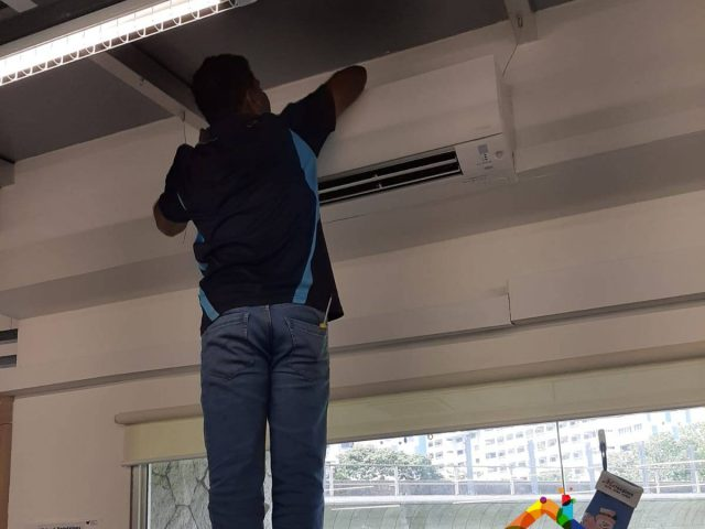 Fan Coil Servicing Aircon Servicing Singapore – Commercial Bukit Batok