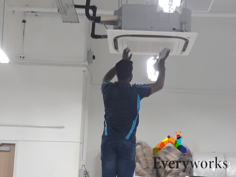 Ceiling Cassette Aircon Servicing Singapore – Commercial Pasir Panjang