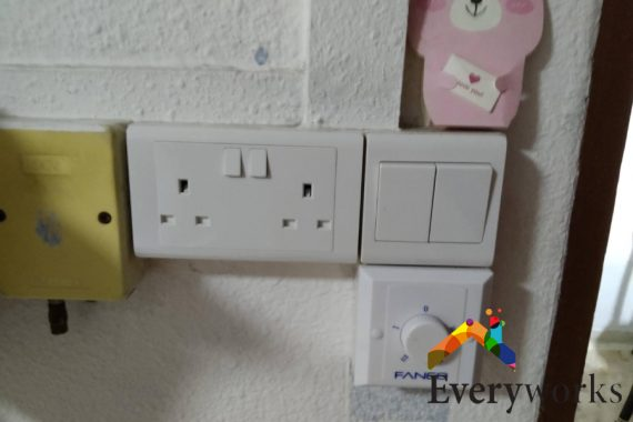 twin-white-power-socket-everyworks-electrician-singapore
