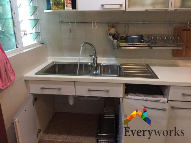 Kitchen Sink Replacement Plumber Singapore Condo – Marine Parade