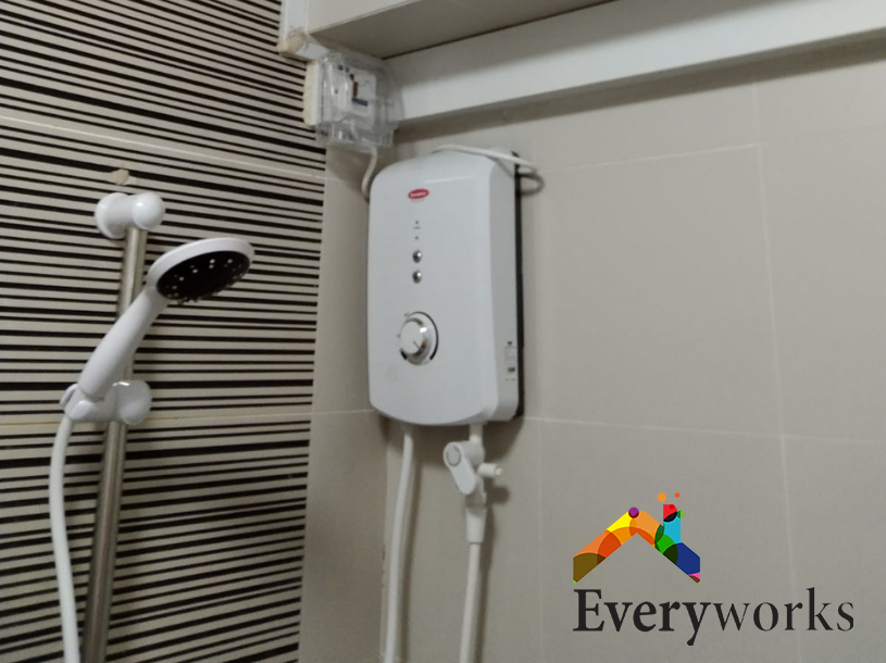 Water Heater Connection Unit And Wiring Installation Electrician Singapore HDB – Tampines