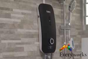black-colored-water-heater-services-everyworks-plumber-singapore