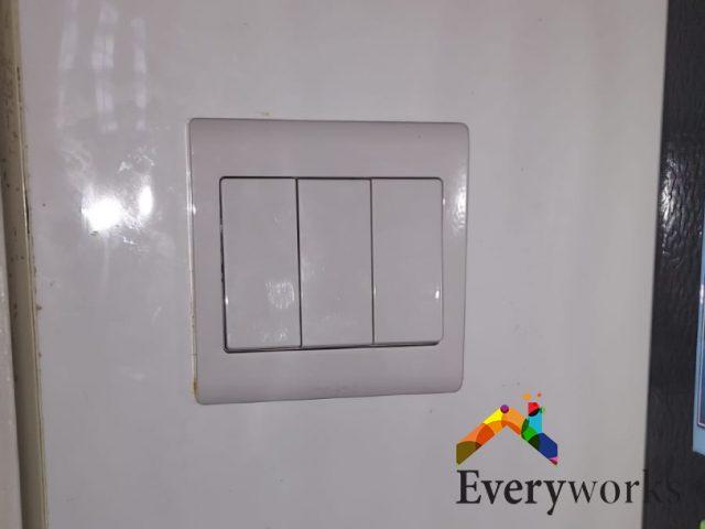 Light Switch Replacement Electrician Singapore Condo – Serangoon