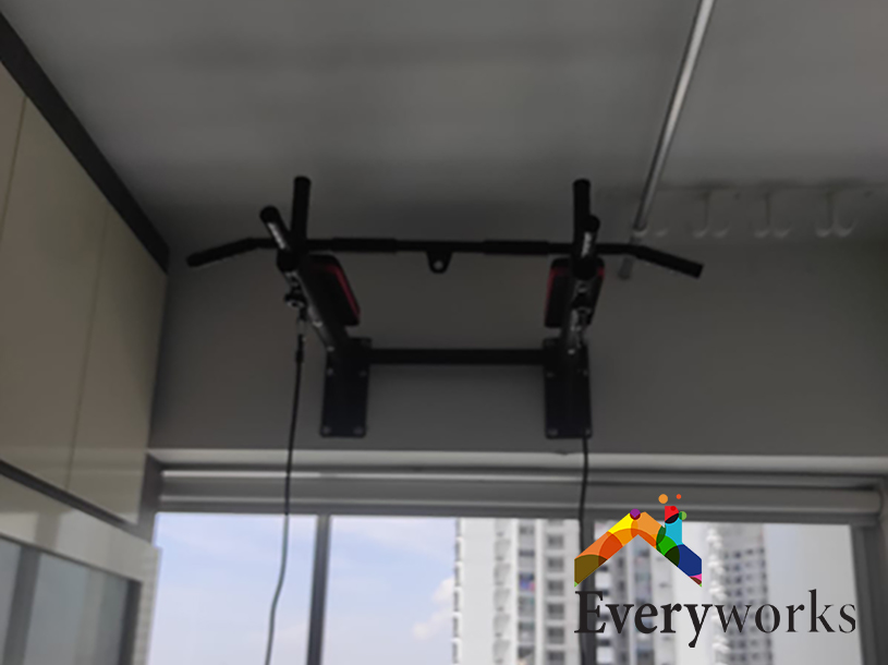 Pull Up Bar Wall Mounting Installation Services Singapore HDB – Clementi