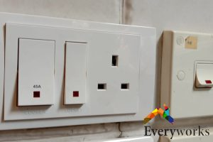 white-colored-power-socket-electrical-switches-services-everyworks-electrician-singapore