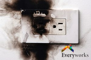 burnt-electrical-socket-electrical-wiring-services-everyworks-electrician-singapore